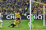 11.05.2019, Signal Iduna Park, Dortmund, GER, DFL, 1. BL, Borussia Dortmund vs Fortuna Duesseldorf, DFL regulations prohibit any use of photographs as image sequences and/or quasi-video<br /> <br /> im Bild Christian Pulisic (#22, Borussia Dortmund) macht das Tor zum 1:0<br /> <br /> Foto &copy; nordphoto/Mauelshagen