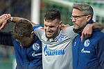 08.03.2019, Weser Stadion, Bremen, GER, 1.FBL, Werder Bremen vs FC Schalke 04, <br /> <br /> DFL REGULATIONS PROHIBIT ANY USE OF PHOTOGRAPHS AS IMAGE SEQUENCES AND/OR QUASI-VIDEO.<br /> <br />  im Bild<br /> Verletzung / verletzt / Schmerzen<br /> Daniel Caligiuri (FC Schalke 04 #18)<br /> <br /> Foto &copy; nordphoto / Kokenge