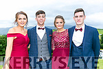 Enjoying the Colaiste na Sceilge Debutante Ball at Ballyroe Heights Hotel on Tuesday were l-r  Alva Kerin, Cian O'Leary, Casey O'Donoghue and Grahame O'Sullivan