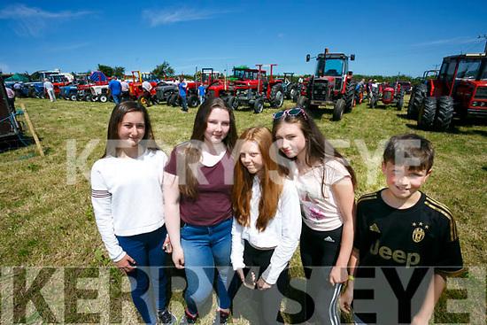 Enjoying Kilflynn Vintage Rally Day on Sunday were Lola Rosa Prince, Katelynn Quinn, Caoimhe Donnelly, Clodagh Houlihan, Ryan Houlihan