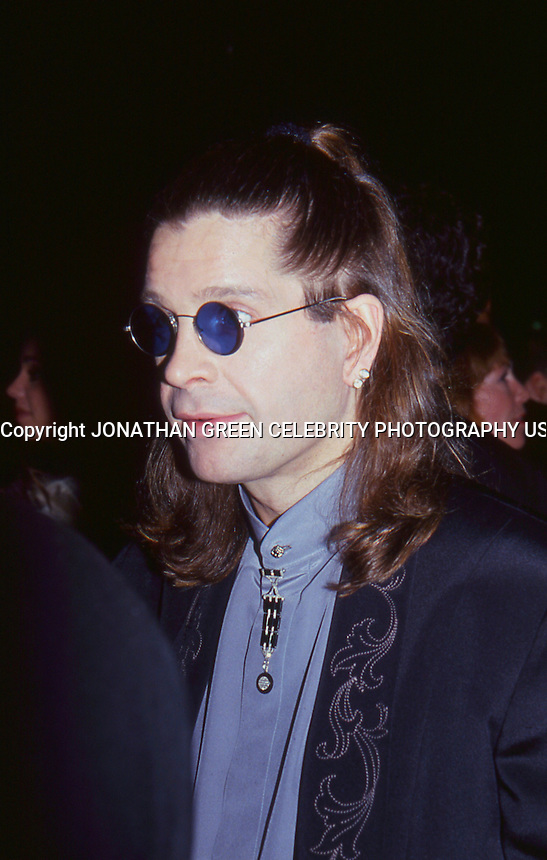 Ozzy Osbourne attends Mariah Carey <br /> Wedding to Tommy Mottola 1993 by<br /> Jonathan Green