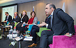 "BRUSSELS - BELGIUM - 24 November 2016 -- European Training Foundation (ETF) Conference on ""GETTING ORGANISED FOR BETTER QUALIFICATIONS"" - Panel discussion: Making QFs work globally. -- Koen Nomden, Team Leader - Skills and qualifications recognition tools - DG Employment  Social Affairs and Inclusion; Loukas Zahilas, Head of Department - European Centre for the Development of Vocational Training (CEDEFOP), Department for VET Systems and VET Institutions; Helene Skikos, Policy Officer - DG Education and Culture; Moderator Anastasia Fetsi, Head of Operations Department ETF; Malik Althuwaynee, Senior Consultant - Complete Media Solution/ National Qualifications Authority- UAE and Borhene Chakroun, Chief of Section United Nations Educational, Scientific and Cultural Organisation (UNESCO). -- PHOTO: Juha ROININEN / EUP-IMAGES"