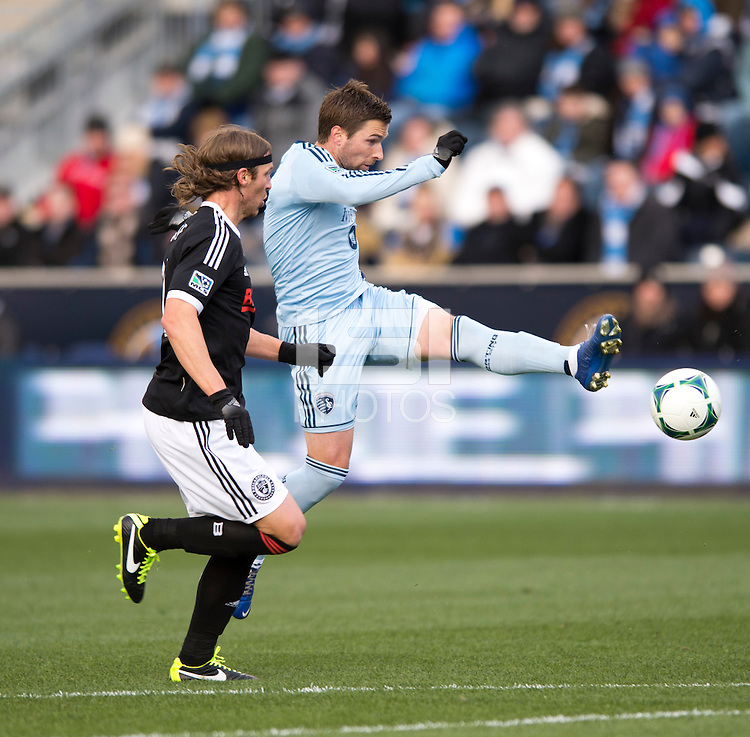 Bobby Convey.  Sporting Kansas City defeated Philadelphia Union, 3-1. at PPL Park in Chester, PA.
