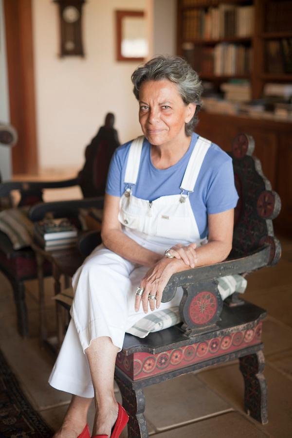 Artist Christina Motta in her home.