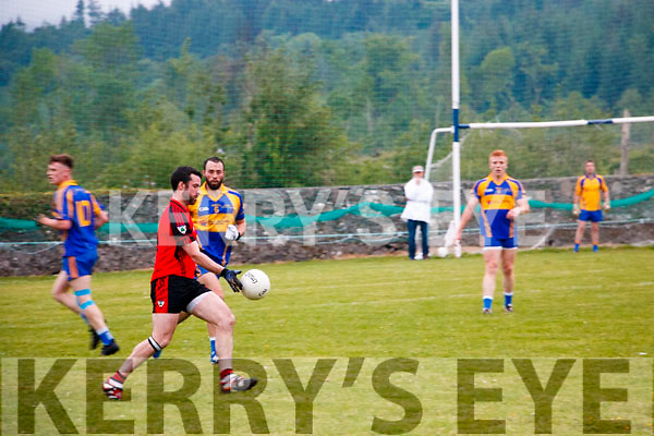 Sean O'Leary Kenmare Shamrocks in Action against Kenmare DIstrict in the Kerry Senior Football Championship in Templenoe on Friday Night