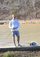 NWA Democrat-Gazette/FLIP PUTTHOFF <br />CASTS FOR BASS<br />Chris Garrett of Rogers fishes for black bass on Saturday Nov. 30 2019 at Lake Atalanta in Rogers. Garett opted for bass fishing, but more than 1,000 rainbow trout were stocked in late November by the Arkansas Game and Fish Commission for winter fishing. Lake Springdale and Murphy Park pond in Springdale also received trout.