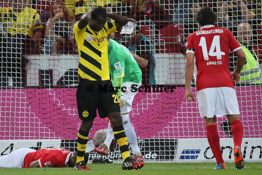 Adrian Ramos (BVB) hat die Chance vergeben - 1. FSV Mainz 05 vs. Borussia Dortmund, Coface Arena