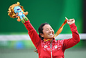 Yui Kamiji (JPN), <br /> SEPTEMBER 15, 2016 - Wheelchair Tennis : <br /> Women's Singles Medal Ceremony <br /> at Olympic Tennis Centre<br /> during the Rio 2016 Paralympic Games in Rio de Janeiro, Brazil.<br /> (Photo by AFLO SPORT)