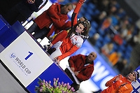 SCHAATSEN: HEERENVEEN: 14-12-2014, IJsstadion Thialf, ISU World Cup Speedskating, Podium Mass Start Ladies, Ivanie Blondin (CAN), ©foto Martin de Jong