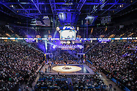 STATE COLLEGE, PA - FEBRUARY 8: A view of the sold out crowd during a wrestling match between the Penn State Nittany Lions and the Iowa Hawkeyes on February 8, 2015 at the Bryce Jordan Center on the campus of Penn State University in State College, Pennsylvania. The Hawkeyes won 18-12. (Photo by Hunter Martin/Getty Images) *** Local Caption ***