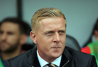 Pictured: Swansea manager Garry Monk Sunday 30 August 2015<br /> Re: Premier League, Swansea v Manchester United at the Liberty Stadium, Swansea, UK