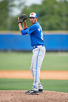 Toronto Blue Jays pitcher Kyle Weatherly (85) during a Minor League Spring Training Intrasquad game on March 31, 2018 at Englebert Complex in Dunedin, Florida.  (Mike Janes/Four Seam Images)