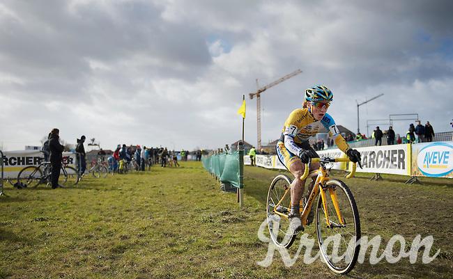 Pavla Havliková (CZE) out of the pits<br /> <br /> 2014 Noordzeecross