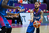 7th September 2017, Fenerbahce Arena, Istanbul, Turkey; FIBA Eurobasket Group D; Russia versus Great Britain; Guard Teddy Okereafor #5 of Great Britain passes the ball through the lane