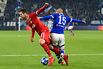11.12.2018, VELTINS Arena, Gelsenkirchen, Deutschland, GER, UEFA Champions League, Gruppenphase, Gruppe D, FC Schalke 04 vs. FC Lokomotiv Moskva / Moskau<br /> <br /> DFL REGULATIONS PROHIBIT ANY USE OF PHOTOGRAPHS AS IMAGE SEQUENCES AND/OR QUASI-VIDEO.<br /> <br /> im Bild Zweikampf zwischen Grzegorz Krychowiak (#7 Moskau) und Ahmed Kutucu (#15 Schalke)<br /> <br /> Foto © nordphoto / Kurth