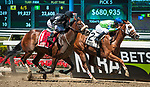 May 11, 2019: Heavenhasmynikki, ridden by Kendrick Carmouche, wins the 2019 running of the G3 Vagrancy at Belmont Park in Elmont, NY. Sophie Shore/ESW/CSM