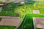 Nederland, Zeeland, Zuid-Beveland, 09-05-2013; heggen en Oudland ten westen van Nisse. De waterpartijen zijn wielen (restanten van vroegere dijkdoorbraken). Oude polders in de Zak van Zuid-Beveland.<br /> Old Polders in Zealand (Soutthwest Holland).<br /> luchtfoto (toeslag op standard tarieven);<br /> aerial photo (additional fee required);<br /> copyright foto/photo Siebe Swart.