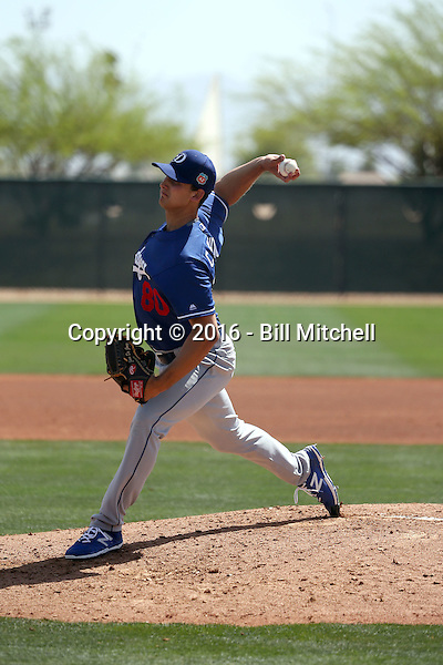 Chase De Jong - Los Angeles Dodgers 2016 spring training (Bill Mitchell)