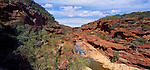 Rock formations and the Murchison River in Kalbarri National Park. Western Australia. Australia.