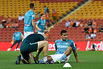 BRISBANE, AUSTRALIA - OCTOBER 30: Tim Cahill of Melbourne receives treatment before the round 5 Hyundai A-League match between the Brisbane Roar and Melbourne City at Suncorp Stadium on November 4, 2016 in Brisbane, Australia. (Photo by Patrick Kearney/Brisbane Roar)