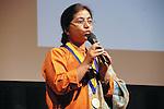 Sunitha Krishnan accepts award, and speaks at the John Jay Justice Award ceremony, April 5 2011.
