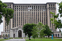 Vacated Michigan Central Station is seen in the Corktown district of Detroit  Sunday June 9, 2013. Built for the Michigan Central Railroad, Michigan Central Station (also known as Michigan Central Depot or MCS) was Detroit's passenger rail depot from its opening in 1913  until the cessation of Amtrak service on January 6, 1988.