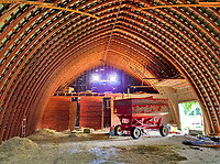 Interior panorama of the barn on the Braun Farm in Westerville, Ohio.