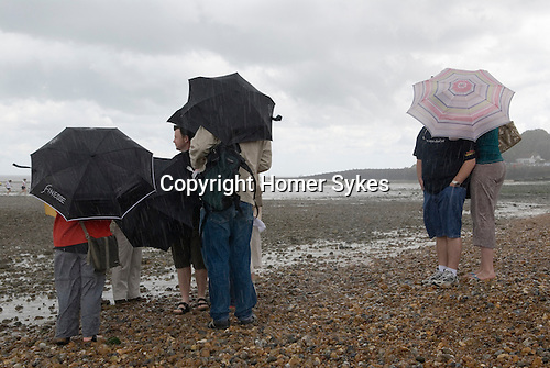 Whitstable Kent Summer rain. UK