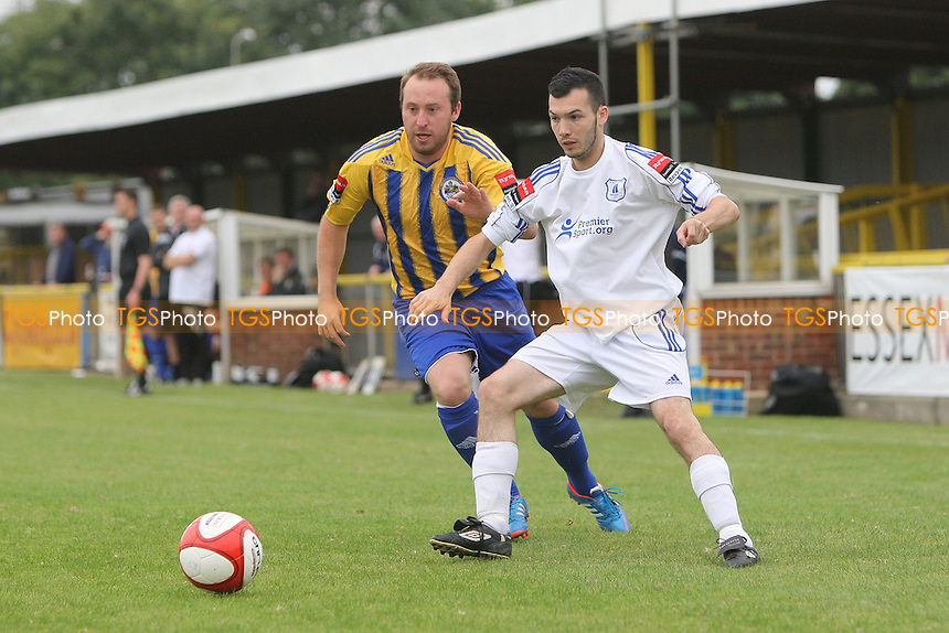 Joe Turner in action for Romford - Romford vs Wroxham - Ryman League Division One North Football at Ship Lane, Thurrock FC - 02/09/12 - MANDATORY CREDIT: Gavin Ellis/TGSPHOTO - Self billing applies where appropriate - 0845 094 6026 - contact@tgsphoto.co.uk - NO UNPAID USE.