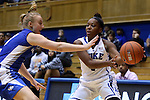 25 November 2014: Duke's Sierra Calhoun (4). The Duke University Blue Devils hosted the State University of New York Buffalo Bulls at Cameron Indoor Stadium in Durham, North Carolina in a 2014-15 NCAA Division I Women's Basketball game. Duke won the game 88-54.
