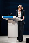 © Joel Goodman - 07973 332324 . No syndication permitted . 30/09/2013 . Manchester , UK . THERESA MAY, the British Home Secretary , addresses the conference this afternoon (Monday 30th September 2013) . Day 2 of the Conservative Party Conference 2013 at Manchester Central . Photo credit : Joel Goodman