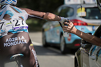 water bottle grabbing for Etienne Fabre (FRA/AG2R-La Mondiale)<br /> <br /> Brussels Cycling Classic 2016