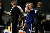 30th July 2020; Craven Cottage, London, England; English Championship Football Playoff Semi Final Second Leg, Fulham versus Cardiff City; A dejected Cardiff City Manager Neil Harris as his team miss a chance to equalise