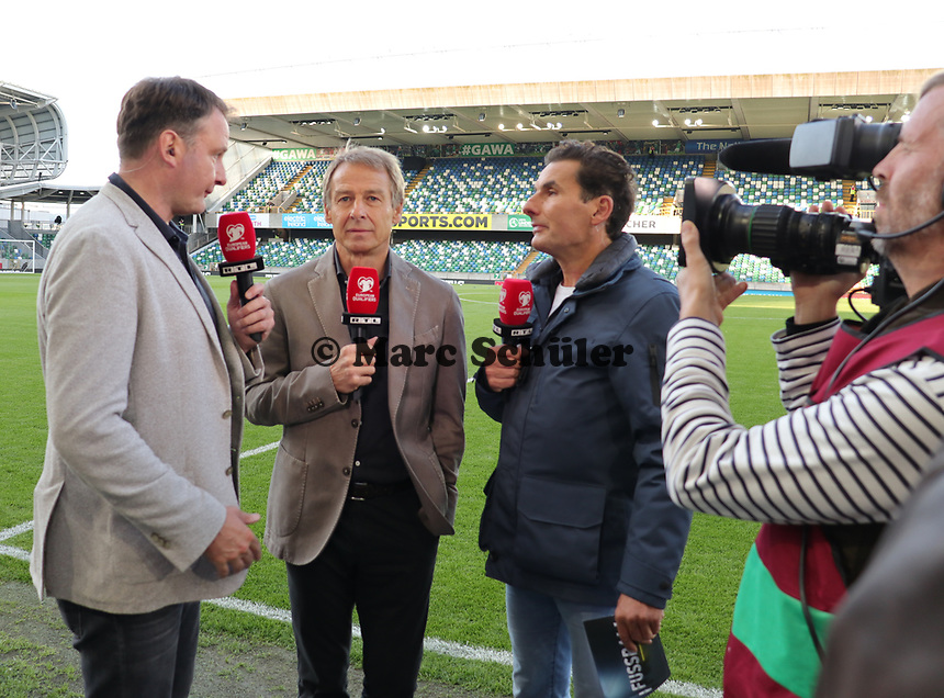 Ex-Nationaltrainer und RTL-Experte Jürgen Klinsmann - 09.09.2019: Nordirland vs. Deutschland, Windsor Park Belfast, EM-Qualifikation DISCLAIMER: DFB regulations prohibit any use of photographs as image sequences and/or quasi-video.