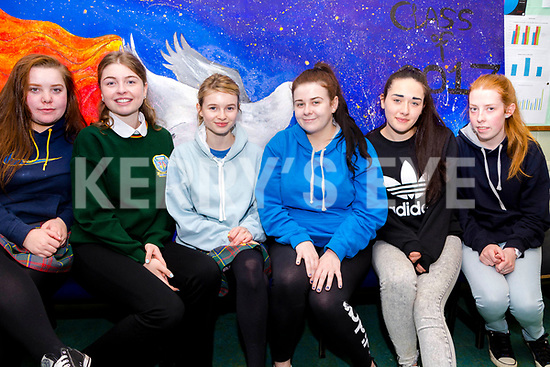 Killorglin Community College students relaxing after their English Paper 1<br /> L-R Celia Dowd, Holly Smith, Andrea Houlihan, Caithlyn O'Brien, Imelda Taylor  &amp; Marie O'Connor.