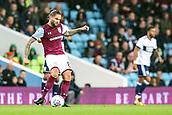 12th September 2017, Villa Park, Birmingham, England; EFL Championship football, Aston Villa versus Middlesbrough; Henri Lansbury of Aston Villa passes the ball across the back line