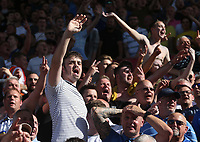 Leeds United fans celebrate their teams third goal<br /> <br /> Photographer Stephen White/CameraSport<br /> <br /> The Premier League - Stoke City v Leeds United - Saturday August 24th 2019 - bet365 Stadium - Stoke-on-Trent<br /> <br /> World Copyright © 2019 CameraSport. All rights reserved. 43 Linden Ave. Countesthorpe. Leicester. England. LE8 5PG - Tel: +44 (0) 116 277 4147 - admin@camerasport.com - www.camerasport.com