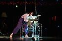 London, UK. 04.01.2014. Cirque du Soleil present QUIDAM at the Royal Albert Hall. Picture shows: John the Ringmaster (Mark Ward) © Jane Hobson.