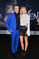 LOS ANGELES, CA. October 01, 2018: Reid Scott &amp; Elspeth Keller at the world premiere for &quot;Venom&quot; at the Regency Village Theatre.<br /> Picture: Paul Smith/Featureflash