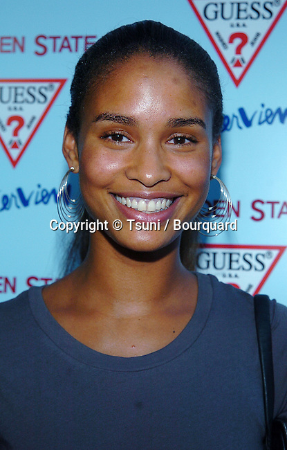 Joy Bryant arriving at the Garden State Premiere at the Director Guild Of America in Los Angeles. July 20, 2004.