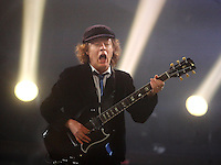 Angus Young of AC/DC performs at the Scottrade Center in St. Louis, Mo., on Tuesday, January 13, 2009.