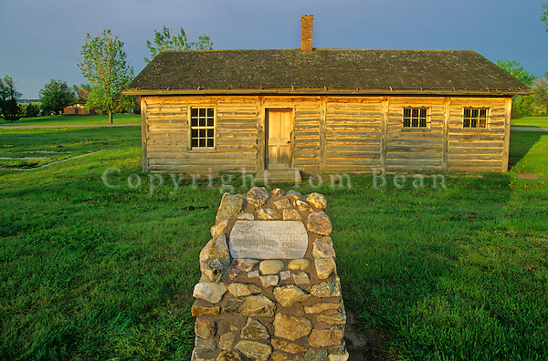 Guard house at the site where Crazy Horse was killed in 1877 at Fort Robinson State Park, Nebraska, AGPix_0342.