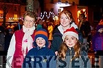 Margaret Kelly Edward Kelly Shauna and Rebecca Collins, pictured at the turning of the Christmas lights in Listowel on Saturday last.