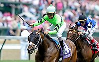 LOUISVILLE, KY - MAY 04: Will Call #10, ridden by Shaun Brigdmohan, wins the Twin Spires Turf Sprint on Kentucky Oaks Day at Churchill Downs on May 4, 2018 in Louisville, Kentucky. (Photo by Candice Chavez/Eclipse Sportswire/Getty Images)