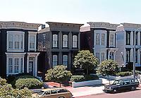 San Francisco: Row Houses, Clay St. at Alta Plaza. Italianate, c. 1875.  Photo '78.
