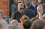 The  funeral of Prodigy singer Keith Flint at St Marys Church in Bocking,  Essex today. Mourners leave the service and former band member Leeroy Thornhill can be seen getting into the waiting limo.