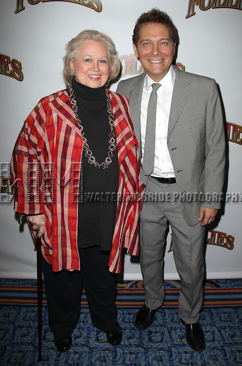 Barbara Cook & Michael Feinstein.attending the Broadway Opening Night Performance of 'Follies' at the Marquis Theatre in New York City,