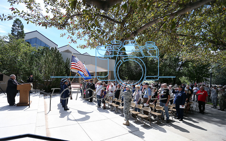 Images from the 2016 Flag Day &amp; Army Birthday ceremony at the Capitol in Carson City, Nev., on Tuesday, June 14, 2016.<br />Photo by Cathleen Allison