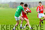 West Kerry Tomas  Ó Sé tackled by St. Kierans John O'Connor during the Kerry Senior Football Championship match at Pairc Ghallarus on Friday evening.