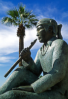 A BRONZE FLUTIST in front of the HERBERGER THEATER CENTER - PHOENIX, ARIZONA